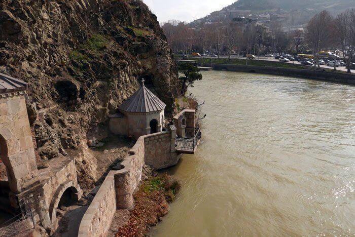 Der Fluss durch Tiflis