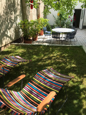 Der Garten im Atriumhaus