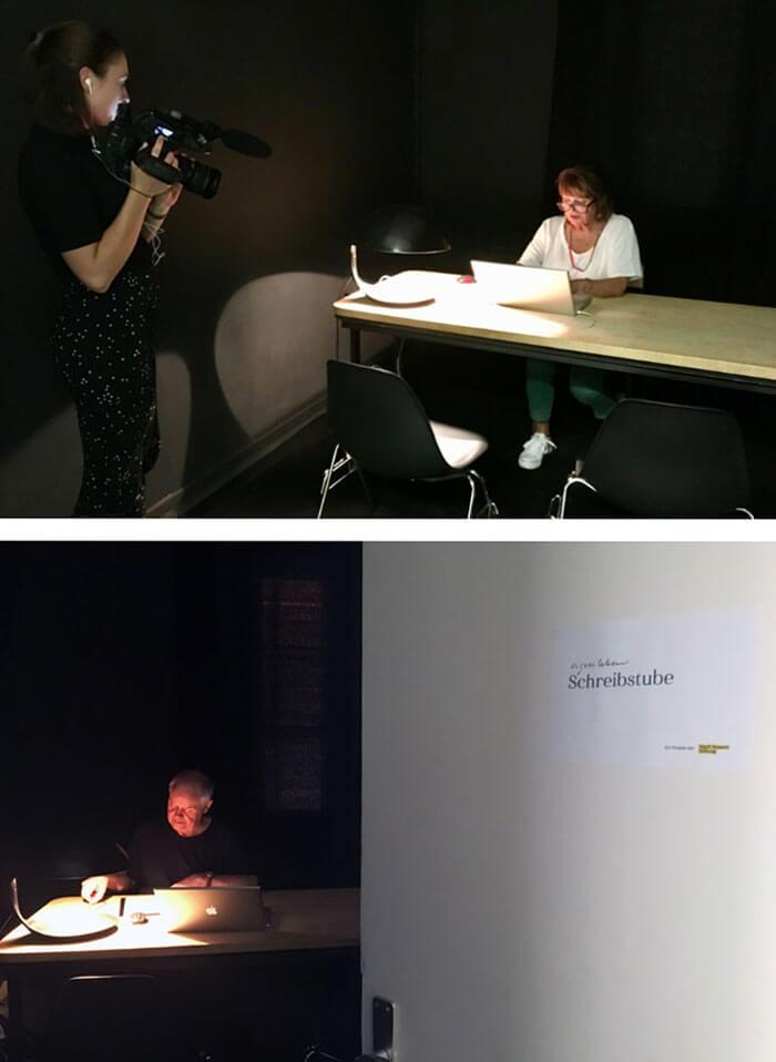 Die Schreibstube in Aktion