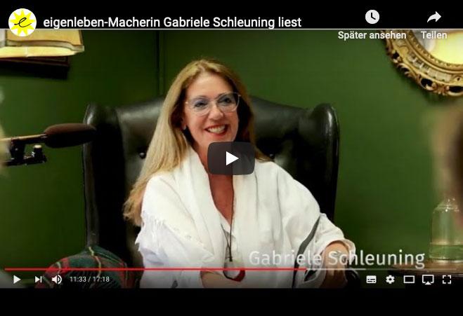 Screenshot des Videos zur Lesung von Gabriele Schleuning