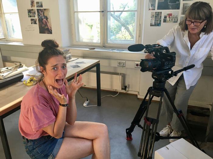 Annelie Boros vor der Kamera
