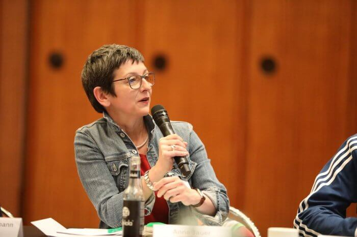 Anne hat alle Fragen der Kommission mit Bravour beantwortet. Foto: Stephan Bleek
