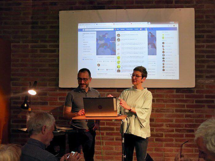 Flavio Cury und Anne Bauer gehen auf Fragen aus dem Publikum ein. Foto: Heike Braun