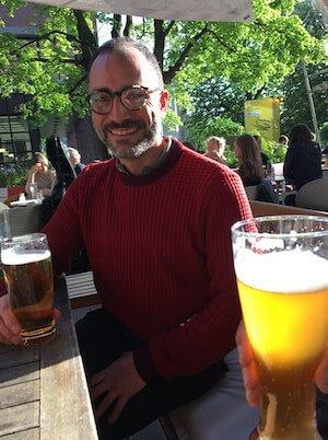 Entspannung danach bei einem kühlen Glas Bier. Foto: Anne Bauer