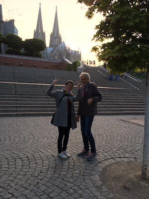 Am Abend davor - in Köln gut angekommen. Foto: Ulrike Ziegler