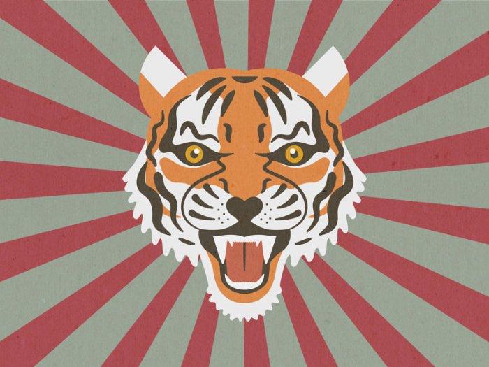 Der gefleckte Tiger