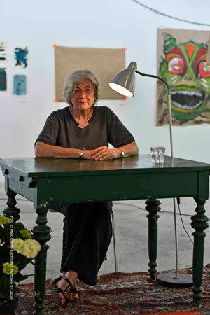 Autorin Barbara Pinheiro bei der Lesung im Rahmen des Köşkivals. Foto: Marc Kleine-Kleffmann