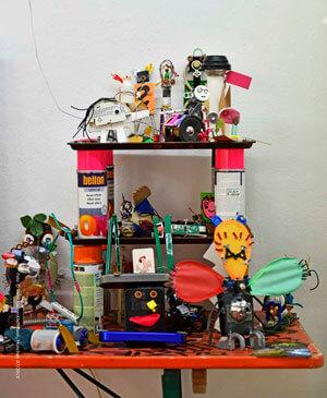 Aus Abfällen tolle Sachen machen – das ist eine Kunst, die Paula Pongratz bei ihren Workshops vermittelt. Foto: Marc Kleine-Kleffmann
