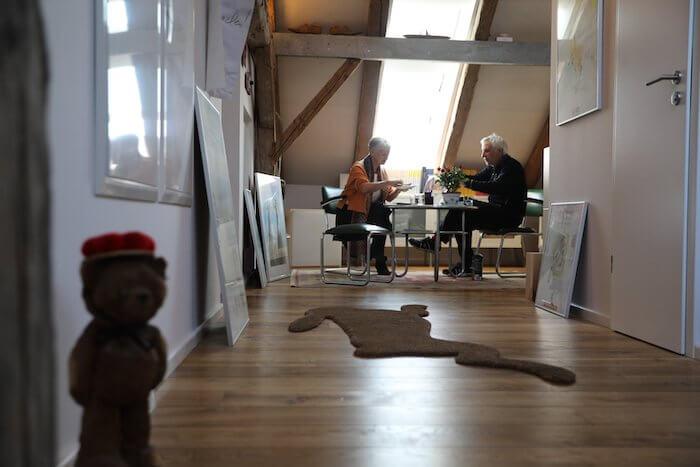 Im Vorraum von Gaymanns Atelier- Foto: Anne Bauer