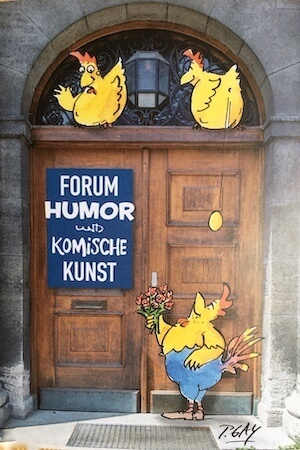 "Flyer zum Projekt ""Forum Humor"" in München. Foto: Ulrike Ziegler"