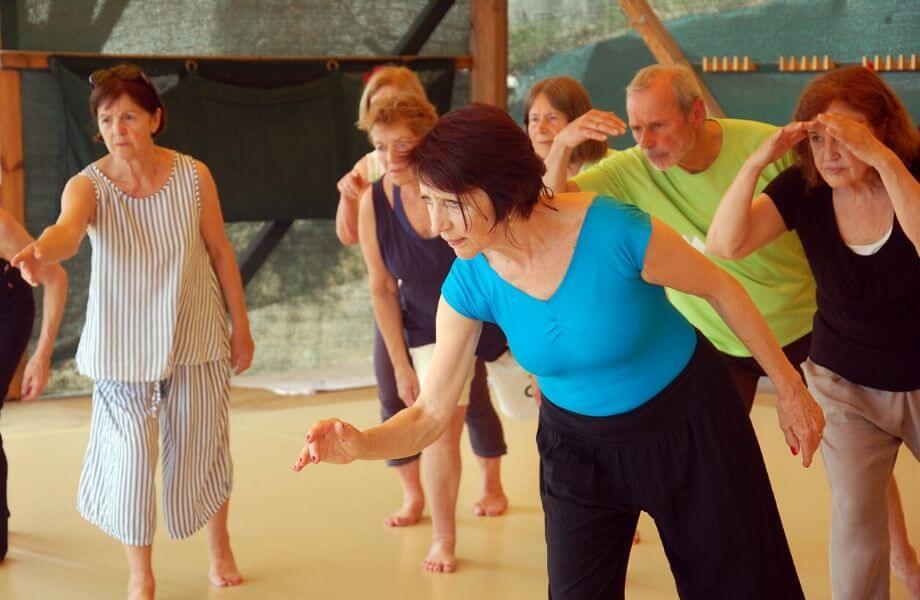 Die konzentrierten TeilnehmerInnen im Tanzurlaub.