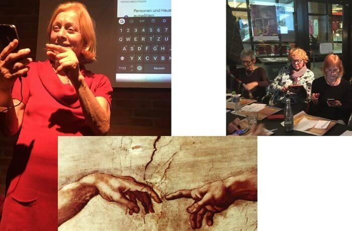 Der Workshop weckte Assoziationen zu Michelangelos Werk.