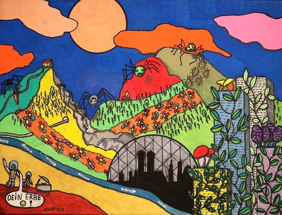 Wie der Künstler Wolfgang »Wose« Sell die Erde nach uns sieht.