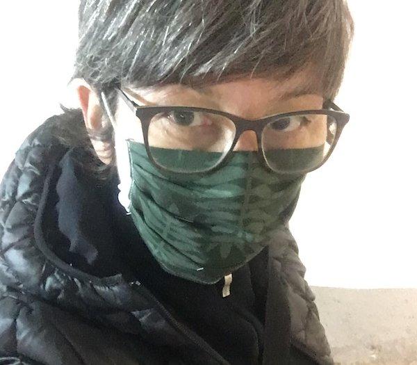 Mit Maske andere schützen