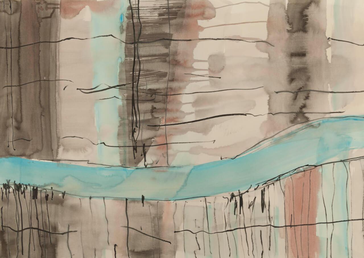 Bild: Michael C. Peters, 2001-2011 - Akryl, Tusche, Stift auf Papier - 70 x 100