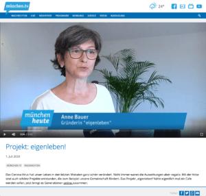 Anne Bauer im Interview mit münchen.tv